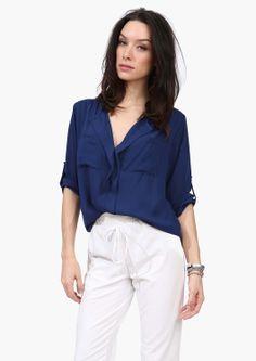 slade blouse in navy