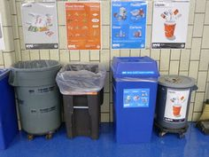 Different bins in nearly 750 New York City schools help students separate organic waste for composting.