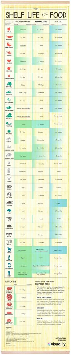 Infographic - Shelf Life of Food