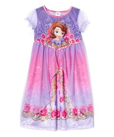Look what I found on #zulily! Purple Sofia the First Roses Nightgown - Girls #zulilyfinds