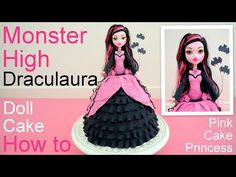 Monster High Frankie Stein Doll Cake How to by Pink Cake Princess - YouTube