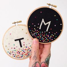 You could do that with sequins too.