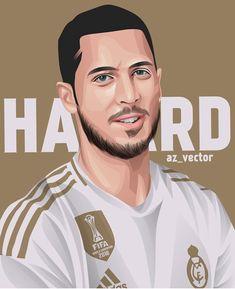 Portrait Vector, Portrait Art, Hazard Real Madrid, Sea Of Stars, The Last Laugh, Photoshop, Eden Hazard, Football Pictures, Football Wallpaper