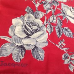 Vintage Jacqmar Silk Scarf with hand rolled edges