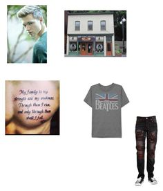 """""""Getting more tattoos my family-Scorpius Malfoy"""" by littleredkatie ❤ liked on Polyvore featuring Houghton and JEM"""