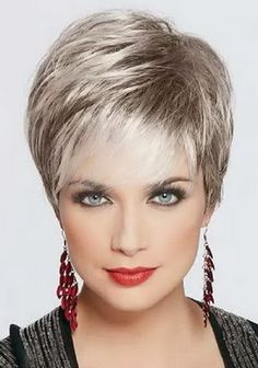 Pixie cut on older women