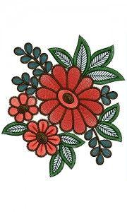 Modern Machine Embroidery Design 13572