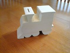 Picture of Wooden Train Coin Bank