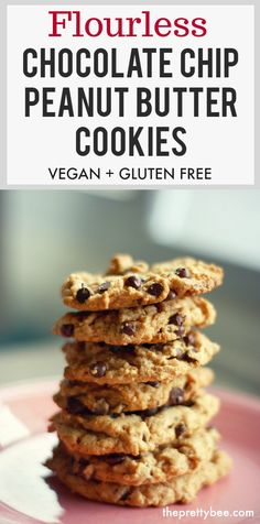 These gluten free chocolate chip peanut butter cookies melt in your mouth!