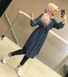 Image about sport in hijab 🌸 by spero on we heart it Casual Hijab Outfit, Hijab Chic, Hijab Style Dress, Ootd Hijab, Dress Casual, Hijab Fashion Summer, Abaya Fashion, Muslim Fashion, Modest Fashion