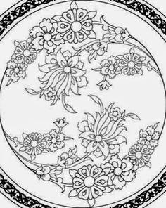 Islamic Art Pattern, Pattern Art, China Painting, Ceramic Painting, Pyrography Patterns, Arabesque Pattern, Arabic Calligraphy Art, Floral Drawing, Blue Pottery