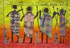 http://josettebrouwer.edublogs.org/files/2011/02/IMG_0409-1q4myxb-300x209.jpg 3rd grd african masia Atelier D Art, African American Art, Elementary Art, 2nd Grade Art, Third Grade, African Art Projects, Global Art, Kente Cloth, School Art Projects