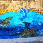 Street art in Cartagena is vibrant and bright, reflecting the city's rich colonial past as well as its