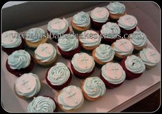 Custom personalized cakes in bakersfield california Boy Christening Outfit, Baby Boy Baptism, Baptism Party, Baptism Ideas, Christening Cupcakes, Christening Decorations, Gold Cupcakes, Cupcakes For Boys, Candy Stations
