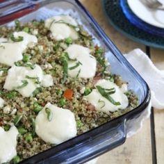 Meaty Pesto Quinoa Bake HealthyAperture.com