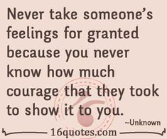 feelings for granted quotes