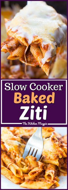 The BEST Slow Cooker Baked Ziti! It bakes up right in your crockpot perfectly! No stirring needed! Recipe from Slow Cooker Baked Ziti, Slow Cooker Pasta, Best Slow Cooker, Slow Cooker Recipes, Crockpot Recipes, Pasta Recipes, Dinner Crockpot, Ninja Recipes, Free Recipes