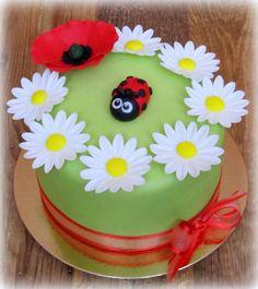 Flowers with a Ladybug by Lenka