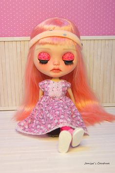 Dress for Blythe Icy pullip or similar by JanisasCouture on Etsy Color Rosa Claro, Blythe Dolls, Aurora Sleeping Beauty, Disney Princess, Trending Outfits, Etsy, Unique Jewelry, Handmade Gifts, Dress