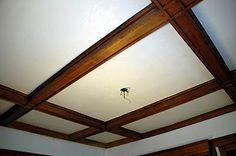 Our Tiny Oak Park Bungalow: Stripping ceiling beams sucks...