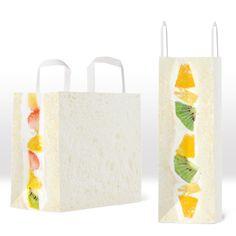 フルーツサンド・ペーパーバッグ... - フルーツサンド・ペーパーバッグ 一見ただの白い紙袋ですが、横から見ると美味しそうなフルーツの断面が。いろいろと中身が気になる一品です。 Fruit sandwich paper bag At first glance it's just a white paper bag, but if you look at it from the side you can see a...