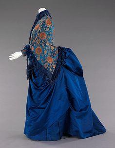Afternoon ensemble Date: 1885–88 Culture: American Medium: silk, metal