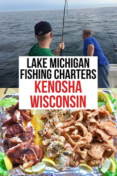 Travel to Kenosha, Wisconsin to experience so fun Lake Michigan charter fishing. You can spend the morning on beautiful Lake Michigan and then prepare your catch for a delicious shore lunch. The crew do all the work you just have is relax and have fun. #VisitKenosha #Fishing #CharterFishing