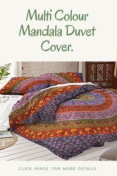 Handmade Bedding, Mandala Duvet Cover, Cotton Bedding, Duvet Cover Sets, Comforters, Blanket, People, Color, Design