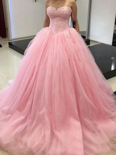New Arrival Prom Dress Modest Prom Dress pink prom dresses pink ball gowns pink quinceanera dresses ball gowns quinceanera dresses White Quinceanera Dresses, Pink Prom Dresses, Sweet 16 Dresses, Tulle Prom Dress, Pink Dress, Tulle Ball Gown, Ball Gowns Prom, Ball Gown Dresses, Evening Dresses