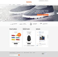 Swims #website by Martin Klausen, via #Behance