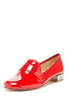 Boutique 9 Embellished Heel Patent Milton Loafer