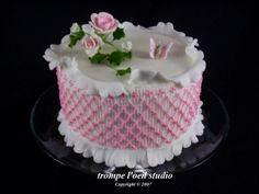 Smocked cake