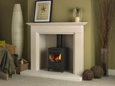 Buy Online: The Aylesbury Limestone STOVE Suite – Freestanding fireplace wood burning Wood Burner Fireplace, Wooden Fireplace, Inglenook Fireplace, Freestanding Fireplace, Limestone Fireplace, Home Fireplace, Fireplace Surrounds, Fireplace Design, Fireplace Ideas