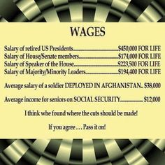 Stop paying these aholes for life! Limited to 2 terms! No one deserves pay for life! Especially when YOU DIDN'T DO YOUR JOB! NO MORE automatic pay raises either you greedy bastards! They are all millionaires already, they don't need your measley tax dollars.