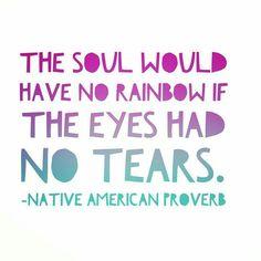 Rainbow tears!
