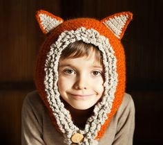 Hat and Scarf Crochet Pattern: Fox - Wolf Hat Hoodie (sizes baby, toddler, child) Etsy | Instant Download