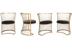 1960s Outdoor Dining Chairs, Set of 4