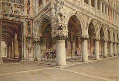 La Porta della Carte e Palazzo Ducale by Giuseppi Cherubini (Ancona 1867 - Venice 1960)
