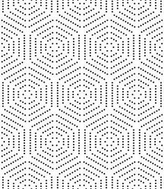 Geometric repeating ornament with black dotted hexagons. - Stock Photo - Ideas of Stock Photo Photo - Geometric repeating ornament with black dotted hexagons. Linear Pattern, Hexagon Pattern, Surface Pattern Design, Pattern Art, Abstract Pattern, Dot Pattern Vector, Geometric Pattern Design, Abstract Art, Graphic Patterns