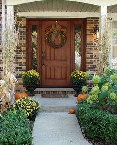 This front door could match the type of cottage-style shutters we're considering