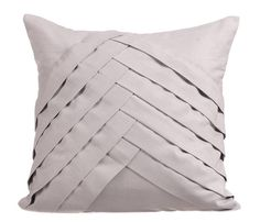 Light Grey Throw Pillows for Bed 16x16 Pillow by TheHomeCentric