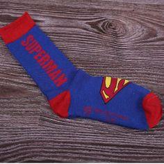 Marvel and DC Comic Long Socks