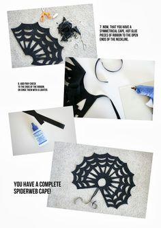 delia creates: No-Sew Halloween Spiderweb Cape TUTORIAL