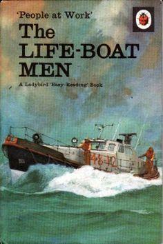 THE LIFE-BOAT MEN Vintage Ladybird Book People at Work Series 606B