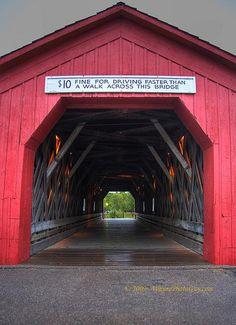 That awkward moment where the Covered Bridge that was literally in your backyard growing up shows up on your Pinterest page.