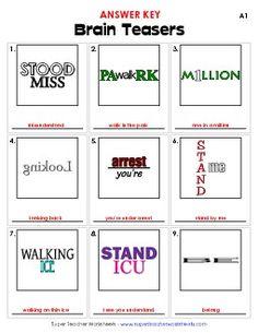 Hidden Meaning Brain Teaser Free Printable Game | GIRLS ...
