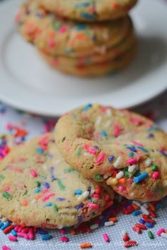 Snazzy Vanilla Rainbow Sprinkle Cookies   Faith, Hope, Love, and Luck Survive Despite a Whiskered Accomplice