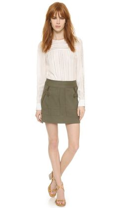 Veronica Beard Crandon Cargo Skirt