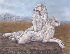 Maned Wolf by darknatasha on DeviantArt Art And Illustration, Animal Illustrations, Mythological Creatures, Fantasy Creatures, Fantasy Kunst, Fantasy Art, Magia Elemental, Werewolf Art, Fantasy Wolf