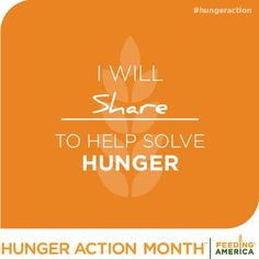 September marks National Hunger Action Month, a time to focus on the food insecurity in our own communities.